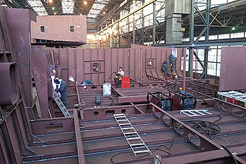 assembly of ship sections